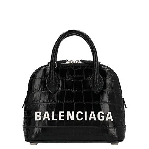 Balenciaga Luxury Fashion Donna 5506461LR231090 Nero Pelle Borsa A Mano | Primavera-estate 20