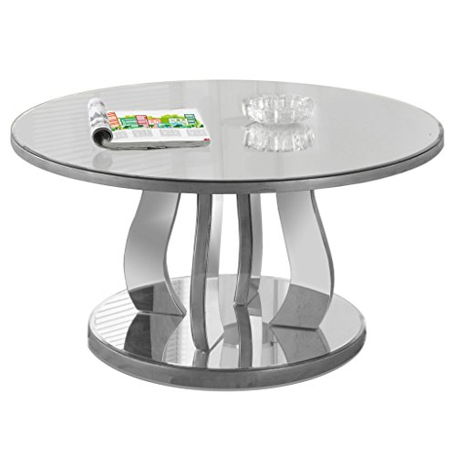 Monarch Specialties Accent Cocktail Coffee Table, 18' H, Brushed Pewter