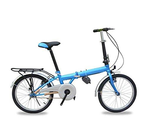 Pieghevole D'emergenza Regalo Dell'automobile Mini Studente Bici Bicicletta Pieghevole Pedale Mountainbike Da 20 Pollici,Blue-20in