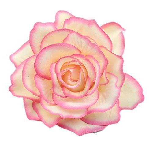LLine Fleur Accessoires De Cheveux pour Les Femmes Mariée Plage Rose Pinces À Cheveux Floral DIY Mariée Coiffure Broche De Mariage en Épingle À Cheveux, 7