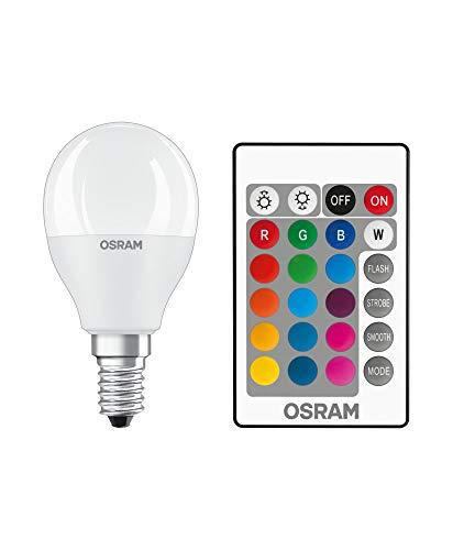 Osram Retrofit RGBW Lampade con Telecomando Lampadina LED, Attacco: E14, Bianco Caldo - Bianco Freddo, 2700 K, 4 W, Equivalenti a 40 W, LED RELAX and ACTIVE CLASSIC B, Opaco, Taglia Unica