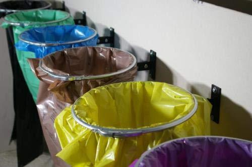QLS Müllsackständer Sack Wandhalterung Müllbeutelständer Abfalleimer Sackhalter
