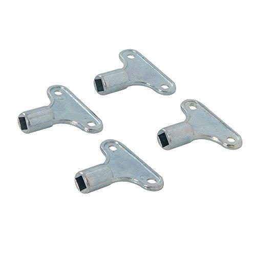 Silverline 671754 Llaves para radiador, Plata, Set de 4 Piezas