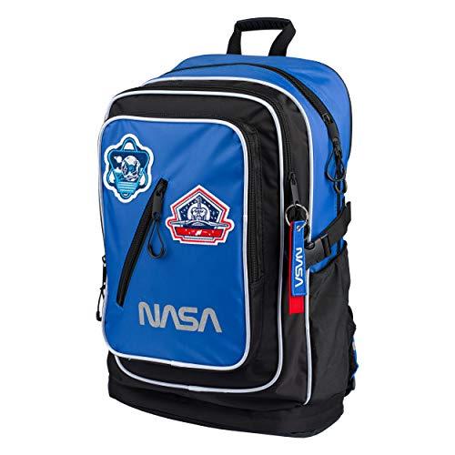 NASA Schulrucksack Für Jungen Mädchen Teenager – Ergonomischer Kinderrucksack mit Laptopfach Für Schule – Extrem Leicht Rucksack mit Brustgurt und Reflektierenden Elementen by Baagl
