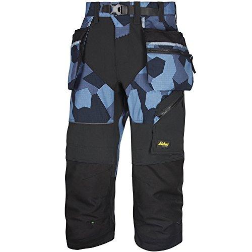 Snickers Workwear 6905 FlexiWork Piratenhose mit Holstertaschen, 1 Stück, 48, camouflage-navy, 69058604048