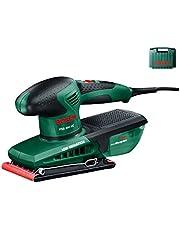 Bosch PSS 200 AC vlakschuurmachine zwart, groen 200 W - bandschuurmachines (handschuurmachine, vlakschuurmachine, zwart, groen, stofzak, rechthoekig, EN 60745)