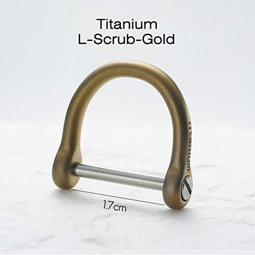 BYBDYSK sleutelhanger titanium riem auto sleutelhanger creatieve ultra lichtgewicht taille opknoping sleutelring houder sleutelhanger gesp beste cadeau titanium goud