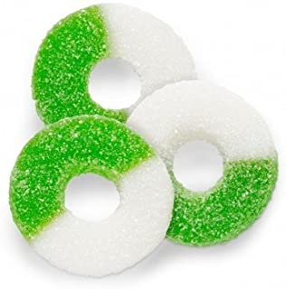 FirstChoiceCandy Gummi Sour Green Apple Gummy Rings (1 LB)