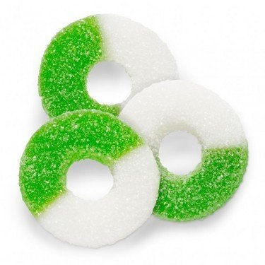FirstChoiceCandy Gummi Sour Green Apple Gummy Rings (2 LB)