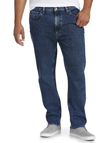 Amazon Essentials Men's Big & Tall Tapered-Fit Stretch Jean fit by DXL, Medium Wash, 56W x 32L
