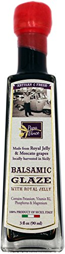 Papa Vince Balsamic Vinegar Glaze with Royal Jelly - NO COLORING, NO THICKENER,...