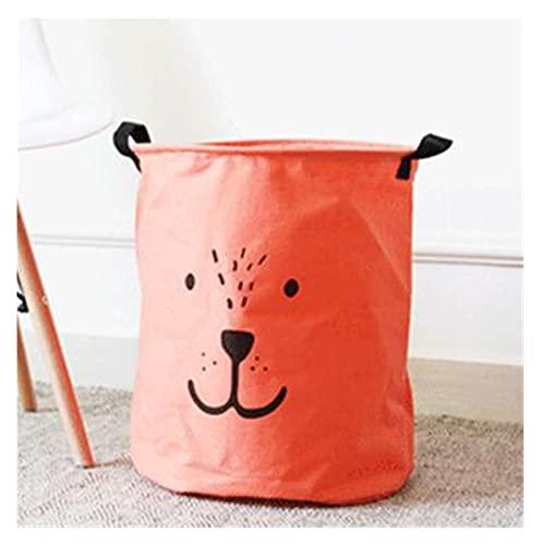 Cesto Para Colada Nuevo Lavado grande Hermer Bag Historieta Encantadora Ropa Cestas de almacenamiento Ropa de hogar Bolsos Barril Bolsos Niños Toy Toy Storage Cesta de lavandería ( Color : Orange )