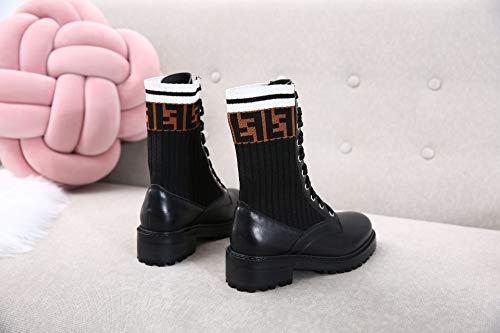 Shukun enkellaarsjes laarzen herfst en winter laarzen stretch college wind sportsokken damesschoenen casual studenten