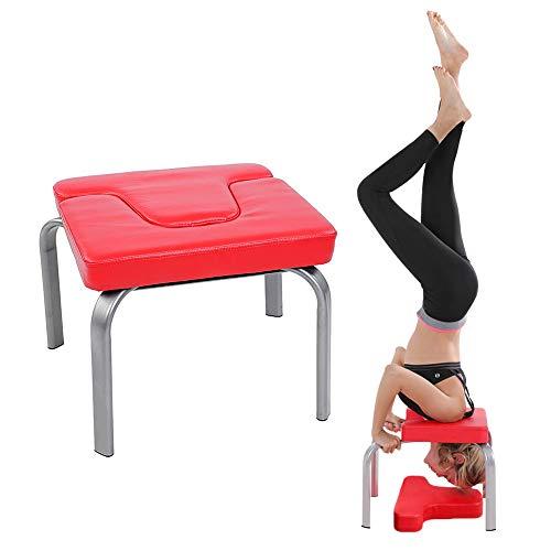 Silla de Ejercicio de Yoga, silla de yoga Silla De Inversión De Yoga banco de silla de yoga acolchado de PU banco de reposacabezas de yoga, silla de yoga familiar y de gimnasio para aliviar la Fatiga
