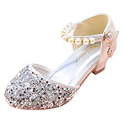 01-Silver Sparkle Mary Janes Low Heel Sandals