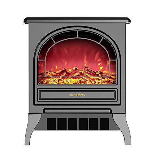 CCFCF Elektrische open haard – moderne ventilatorkachel met 1800 watt met intens brandhouteffect, 2 verwarmingsmodi en thermostaatbesturing