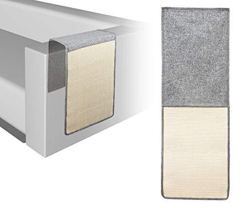 EYEPOWER Sofa Kratzmatte für Katzen - 130x44cm Sisal Möbel Kratzschutz - Couch Sessel Kratz Matte