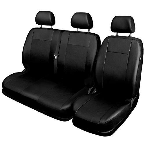 Saferide | Universal Kunstleder Schwarz | Front Bus 1+2 Sitzbezüge Wohnmobil Sitzbezug Schonbezug Schonbezüge Autoschonbezug Autositzbezug Sitzauflagen Sitzschutz Comfort