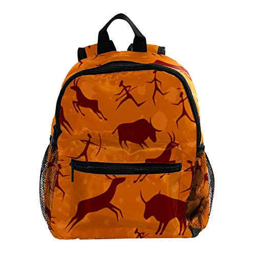 Kids Backpacks,Cute Lightweight Resistant Preschool Backpack for Boys and Girls Chest Strap Rock Painting Animal