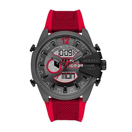 Diesel Analoge digitaal horloge voor heren met armband van nylon DZ4551