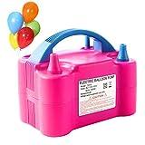 Gresus Bomba de globo eléctrica, portátil, doble boquilla de llenado rápido, inflador de globo para decoración de fiestas