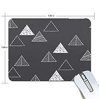 マウスパッド かわいい 幾何 三角形 ブラック 白 北欧風 高級 ノート パソコン マウス パッド 柔らかい ゲーミング よく 滑る 便利 静音 携帯 手首 楽