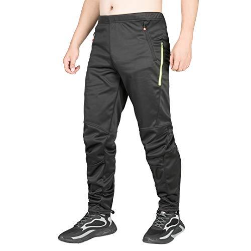 qualidyne - Lange Radsport-Hosen für Herren in Neongrün, Größe L