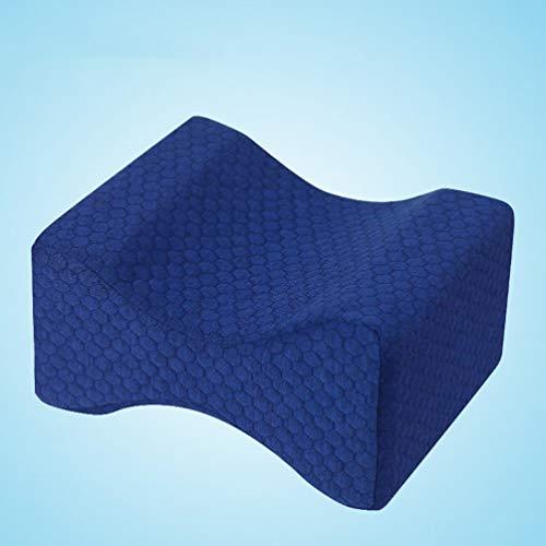 Cómodas Almohadas de Espuma viscoelástica para Dormir, Almohada Debajo de la Rodilla, Soporte ortopédico para la Postura, cojín para piernas (Azul Marino)