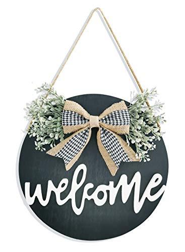 Welcome Sign Porch Decor, Rustic Wooden Door Hangers Front Door Outdoor Hanging Vertical Sign...
