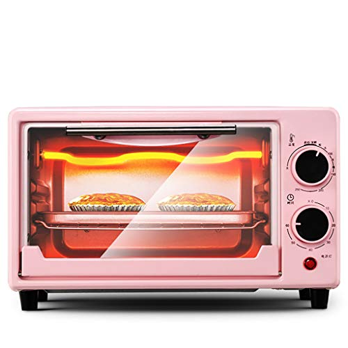 ZXYZZ Oven Home Small Baking Small Oven Multi-Function Automatic Mini Electric Oven Baked Cake Bread Safe High Can Do Roast Chicken Pizza,Pink