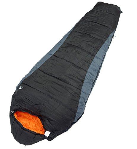 Bears Rock ベアーズロック -15度 寝袋 シュラフ マミー型 4シーズン対応 FX-402 ブラック