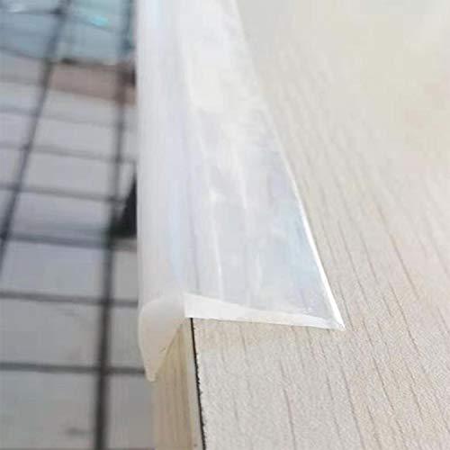 Angloria Kantenschutz 100 % Silikon, 1M Baby Proofing Schutzecken, transparent selbstklebend, weich für Kindersicherheit, Kindertische Schränke Möbel Stoßfänger (2 x 2 cm Breite)