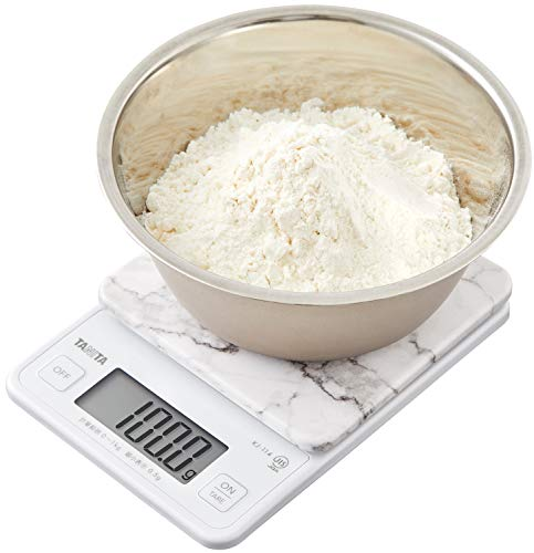 タニタクッキングスケールキッチンはかり料理デジタル1kg0.5g単位ストーンホワイトKJ-114SWHすぐにピタッとはかれる