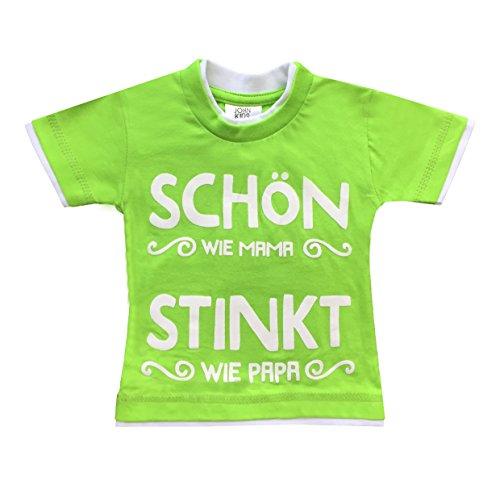 HomeOfSocks John Kids Beau T-shirt pour bébé 100 % coton Motif papa - Vert - 62/68 cm