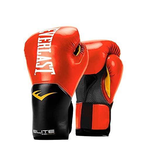 Everlast Elite Pro Style - Guantes de entrenamiento (14 onzas), color rojo