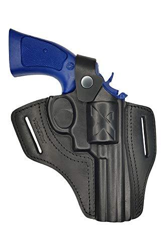 VlaMiTex R4 Funda para Revólver Smith & Wesson 10/19/44/66 con Cañón DE 10cm, de Piel