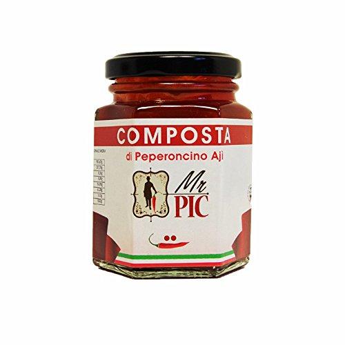 Composta di peperoncino Aji (110 g) - Mr PIC: il Peperoncino Toscano di alta qualità - Carmazzi: la più ampia linea di prodotti piccanti in Italia