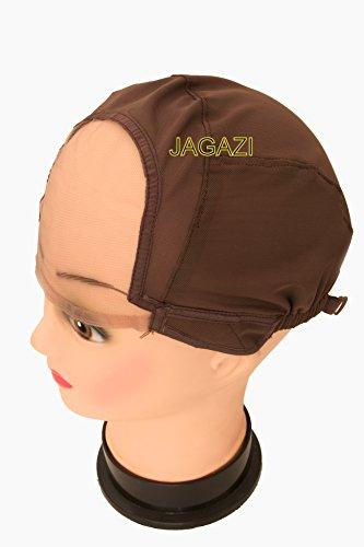 XL Extra Large Snuggle Bonnet de perruque par Jagazi. Forte mais douce, Entièrement élastique, Bretelles réglables. Top qualité. Multi Utilisation : Tissage Cap, Ventilation/aération de capuchon