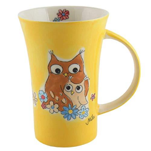 440s Mila Keramik-Becher Coffee Pot Eulen Eul-Ways Love You | MI-82205 | 4045303822054