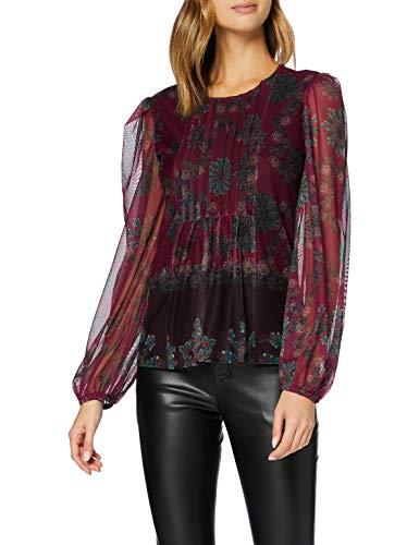 Desigual TS_Lenny Camiseta, Rojo, XS para Mujer