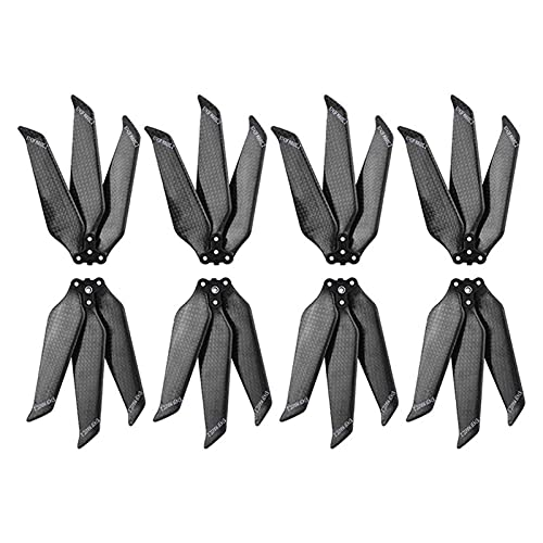 8743 Propeller Carbon Fiber 3 Leaf Paddle Drone Reemplazo Quick Release 3-Blades Props/Fit For dji Mavic 2 Pro Zoom (Color: 3 Hojas 1 par) (Color : 3 Leaf 4 Pair)