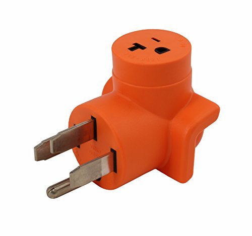 AC WORKS 4-Prong 220-Volt Plug to 120-Volt 15/ 20Amp Household Female Adapter Cord (4-Prong 14-50 Outlet to Household)