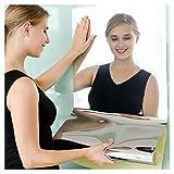 Jiechang Hojas de espejo autoadhesivas, pegatinas de pared de espejo flexibles, suaves no cristal, para decoración del hogar