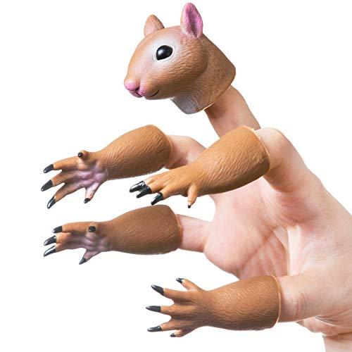 Yolococa Handi Ardilla dedo mano marioneta novedad juguetes dedo muñeca accesorios animal dedo marioneta regalo para niños