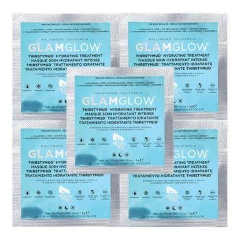 5 x Glamglow ThirstyMud Hydrating Treatment sample 0.1oz