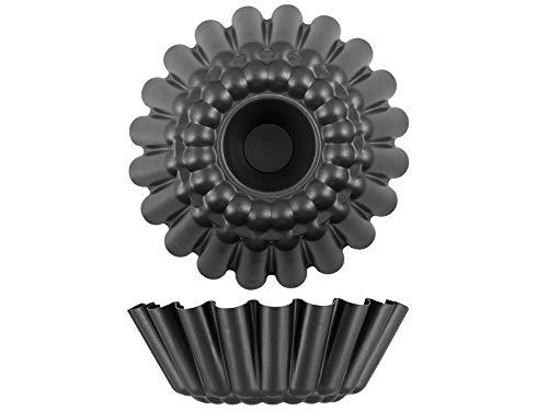 Vespa Baba-Form aus Aluminium, antihaftbeschichtet, Durchmesser 32 cm, Stahl, schwarz, 32 cm