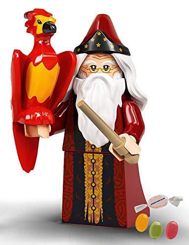Serie 2 Lego® 71028 Harry Potter™ Minifiguren Figur 02 Albus Dumbledore zusätzlich 1 x Sticker-und-co Fruchtmix Bonbon