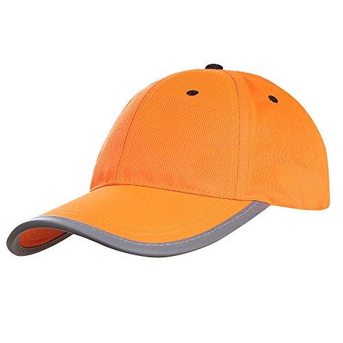 berretto giallo fluo AYKRM Berretto Alta visibilità da Baseball Giallo Arancione Fluo (58CM