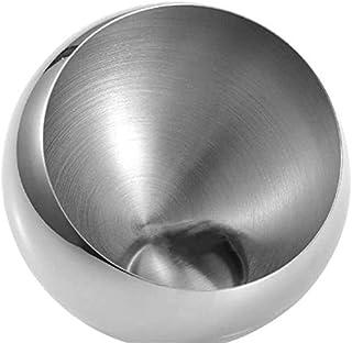 AWAING Bocaux Mode en acier inoxydable incliné bouche bol de fruits organisateur de stockage de cuisine en métal de décora...