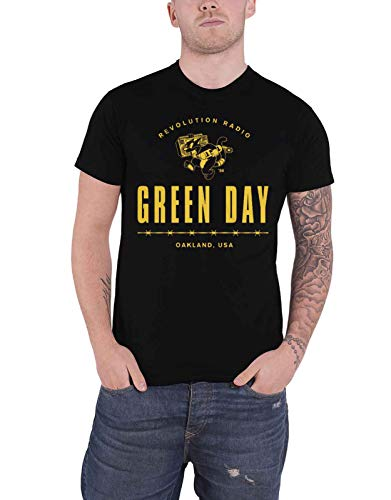 Vert Day T-shirt Revolution Radio Brand Band Logo officiel pour homme - Noir - S
